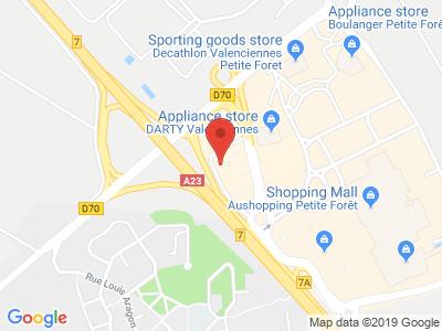 Plan Google Stage recuperation de points à Petite-Forêt proche de Fontaine-Notre-Dame