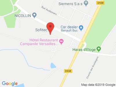 Plan Google Stage recuperation de points à Buc proche de Guyancourt