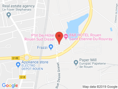 Plan Google Stage recuperation de points à Saint-Étienne-du-Rouvray