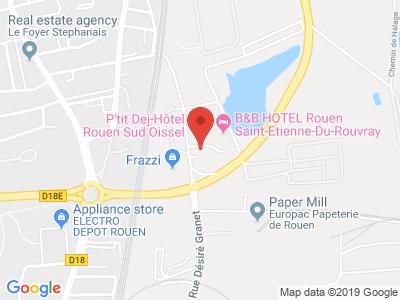 Plan Google Stage recuperation de points à Saint-Étienne-du-Rouvray proche de Cléon