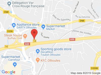 Plan Google Stage recuperation de points à Ollioules proche de Six-Fours-les-Plages