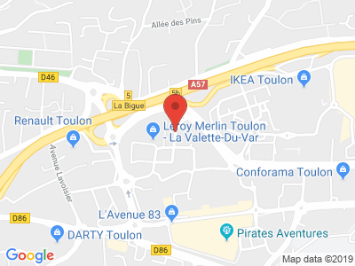 Plan Google Stage recuperation de points à La Valette-du-Var proche de Toulon