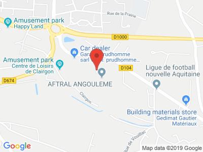 Plan Google Stage recuperation de points à Puymoyen proche de Barbezieux-Saint-Hilaire