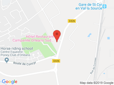Plan Google Stage recuperation de points à Orléans proche de Saran