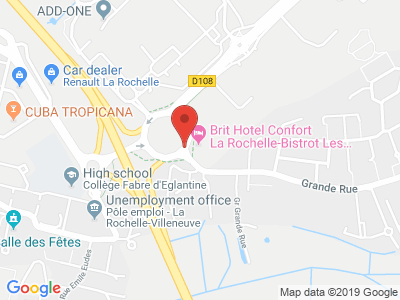 Plan Google Stage recuperation de points à Périgny proche de Rochefort