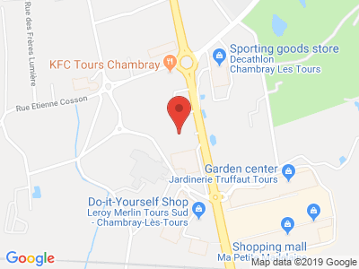 Plan Google Stage recuperation de points à Chambray-lès-Tours proche de Tours