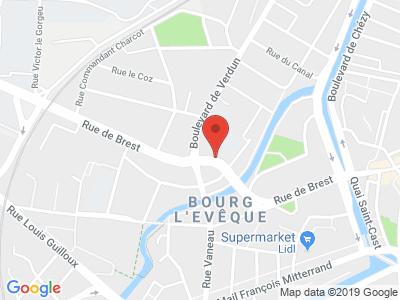 Plan Google Stage recuperation de points à Rennes proche de Cesson-Sévigné