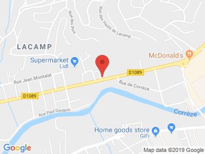 Plan Google Stage recuperation de points à Malemort-sur-Corrèze proche de Brive-la-Gaillarde