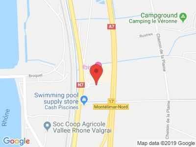 Plan Google Stage recuperation de points à Saulce-sur-Rhône proche de Montélimar