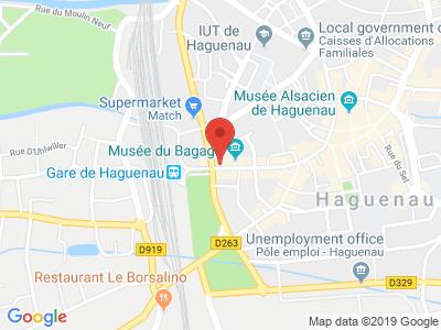 Plan Google Stage recuperation de points à Haguenau proche de Strasbourg