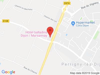 Plan Google Stage recuperation de points à Marsannay-la-Côte proche de Dijon