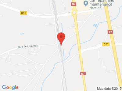 Plan Google Stage recuperation de points à Salaise-sur-Sanne proche de Albon