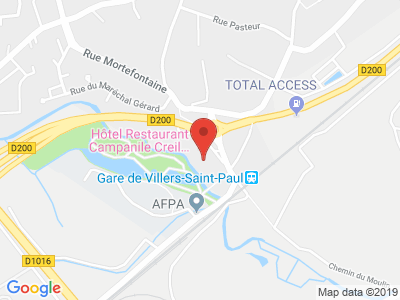 Plan Google Stage recuperation de points à Villers-Saint-Paul proche de Compiègne