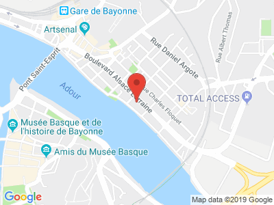 Plan Google Stage recuperation de points à Bayonne