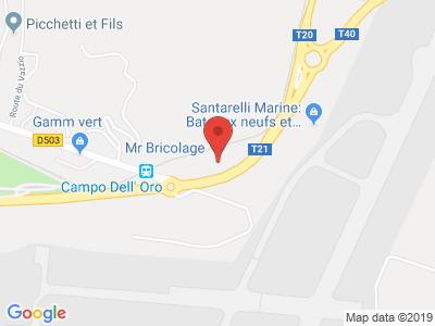 Plan Google Stage recuperation de points à Ajaccio proche de Porto-Vecchio