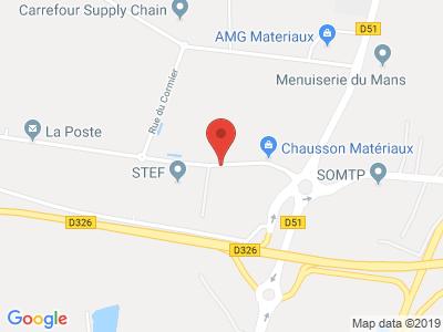 Plan Google Stage recuperation de points à Allonnes proche de Arnage