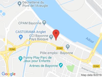 Plan Google Stage recuperation de points à Bayonne proche de Anglet