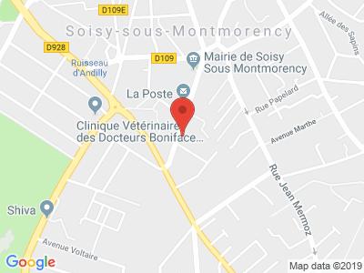 Plan Google Stage recuperation de points à Soisy-sous-Montmorency proche de Franconville