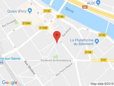 Plan Google Stage recuperation de points à Ivry-sur-Seine proche de Montrouge