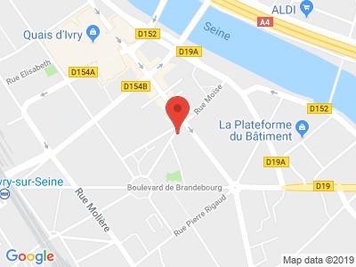 Plan Google Stage recuperation de points à Ivry-sur-Seine proche de Le Kremlin-Bicêtre