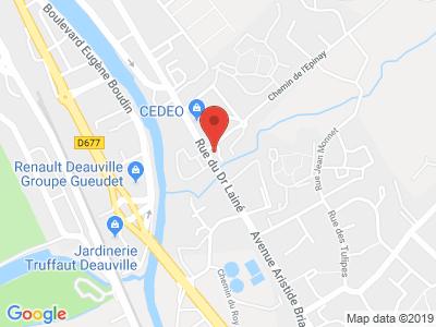 Plan Google Stage recuperation de points à Touques proche de Deauville