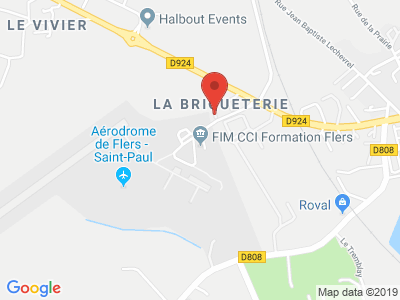 Plan Google Stage recuperation de points à Flers proche de Vire