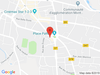 Plan Google Stage recuperation de points à Avranches proche de Saint-Malo