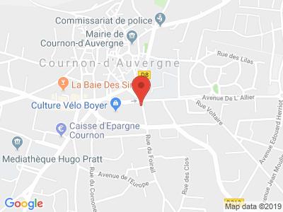 Plan Google Stage recuperation de points à Cournon-d'Auvergne proche de Issoire