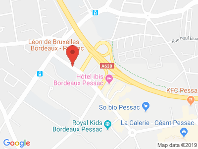 Plan Google Stage recuperation de points à Pessac proche de Bordeaux