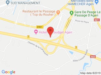 Plan Google Stage recuperation de points à Le Passage proche de Damazan