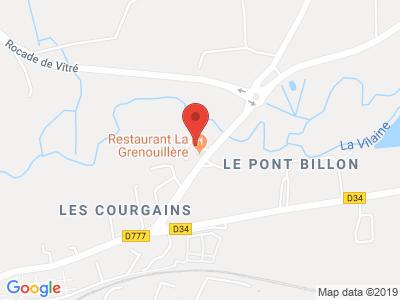 Plan Google Stage recuperation de points à Vitré proche de Fougères