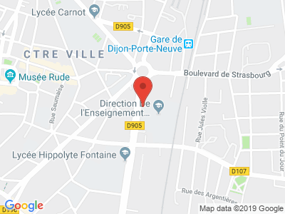 Plan Google Stage recuperation de points à Dijon proche de Longvic