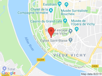 Plan Google Stage recuperation de points à Vichy proche de Bellerive-sur-Allier