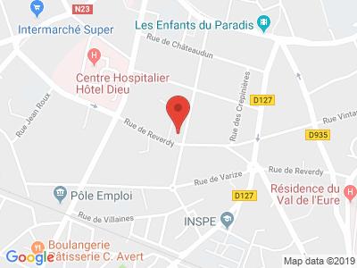 Plan Google Stage recuperation de points à Chartres proche de Gellainville