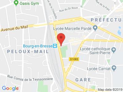 Plan Google Stage recuperation de points à Bourg-en-Bresse proche de Cousance
