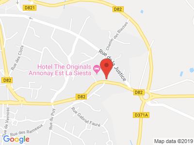 Plan Google Stage recuperation de points à Davézieux proche de Albon