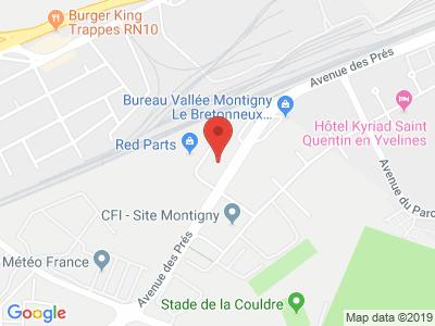 Plan Google Stage recuperation de points à Montigny-le-Bretonneux proche de Guyancourt