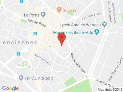 Plan Google Stage recuperation de points à Valenciennes proche de Prouvy