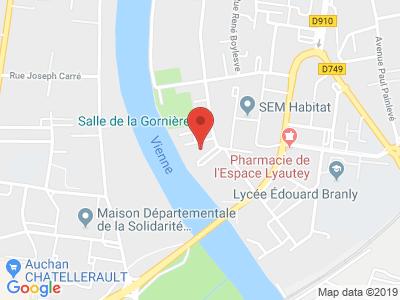 Plan Google Stage recuperation de points à Châtellerault proche de Biard