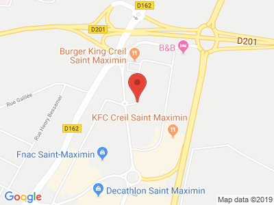 Plan Google Stage recuperation de points à Saint-Maximin proche de Lamorlaye