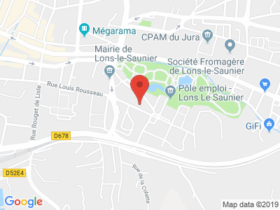 Plan Google Stage recuperation de points à Lons-le-Saunier