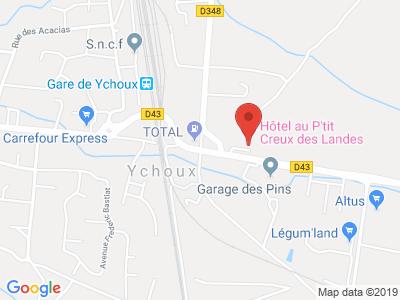 Plan Google Stage recuperation de points à Ychoux proche de Mimizan