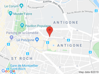 Plan Google Stage recuperation de points à Montpellier