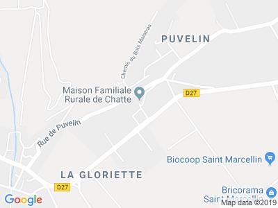 Plan Google Stage recuperation de points à Chatte proche de Saint-Marcellin