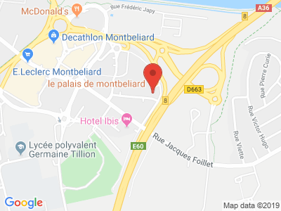 Plan Google Stage recuperation de points à Montbéliard proche de Luré