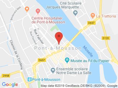 Plan Google Stage recuperation de points à Pont-à-Mousson proche de Commercy