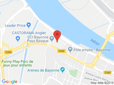 Plan Google Stage recuperation de points à Bayonne proche de Lahonce