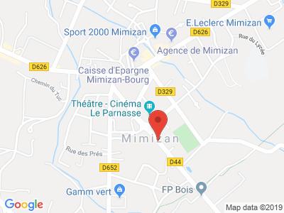 Plan Google Stage recuperation de points à Mimizan proche de Parentis-en-Born