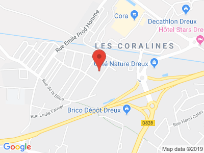 Plan Google Stage recuperation de points à Dreux