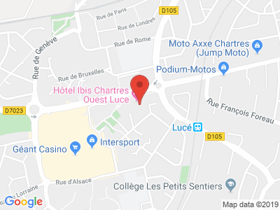 Plan Google Stage recuperation de points à Lucé proche de Chartres
